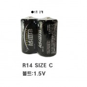 썬파워 망간건전지 R14 C타입 1개(2조) 건전지 배터리