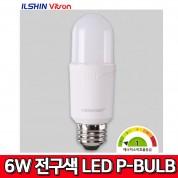 비츠온 LED P-BULB 6W 전구색 3000K 벌브 전구 조명 전등 전기 램프 비츠온MRO 일신 MEGAMAN 메가맨