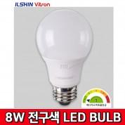 비츠온 LED BULB 8W 전구색  3000K 벌브 전구 조명 전등 전기 램프 비츠온MRO 일신 MEGAMAN 메가맨