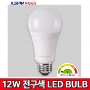 비츠온 LED BULB 12W  전구색  3000K 벌브 전구 조명 전등 전기 램프 비츠온MRO 일신 MEGAMAN 메가맨